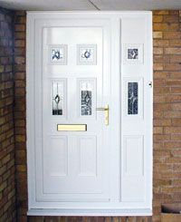 Longdon white door