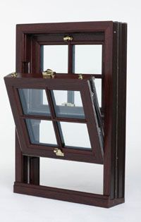 mahogany window
